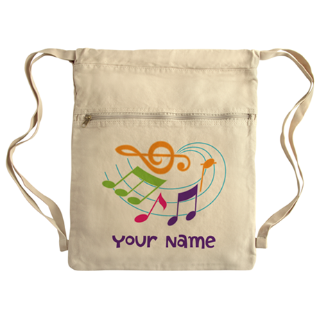 Personalized Music Swirl Cinch Sack