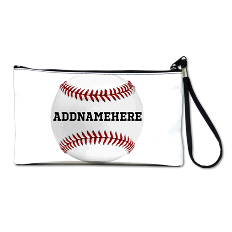 Personalized Baseball Red/White Clutch Bag