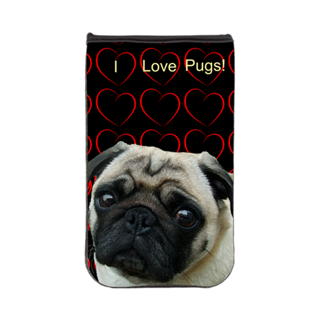 Cute I Love Pugs Kindle Sleeve