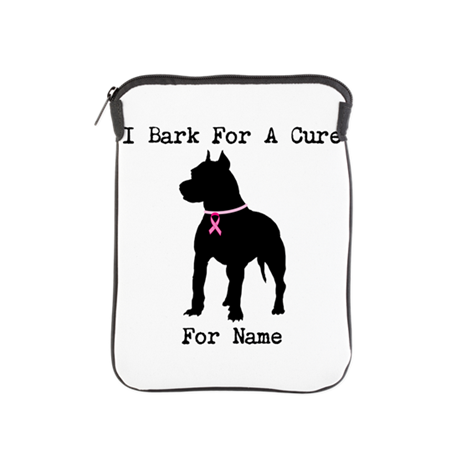 Pitbull Personalizable I Bark For A Cure iPad Slee