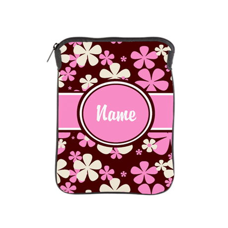 Pink and Brown Personalized iPad Sleeve