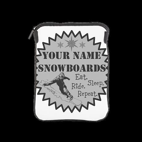 Snowboard iPad Sleeve