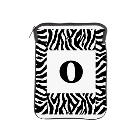 Zebra Stripes Monogram. iPad Sleeve