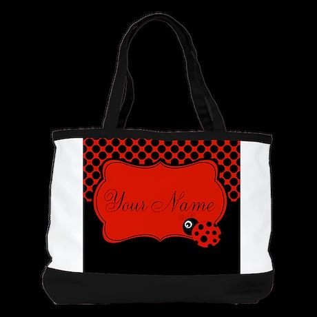 Personalizable Ladybug Polk Dots Shoulder Bag
