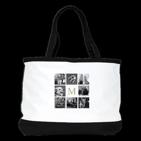 Monogrammed Photo Block Shoulder Bag