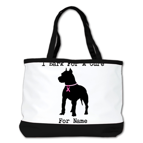 Pitbull Personalizable I Bark For A Cure Shoulder