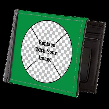 Customizable Green Mens Wallet
