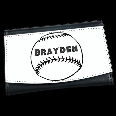 Personalized Baseball Mini Wallet