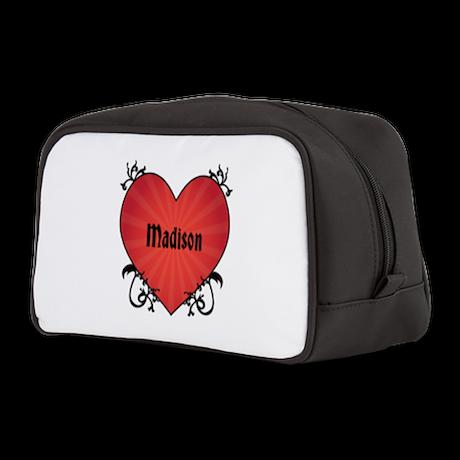 Custom Name Tattoo Heart Toiletry Bag