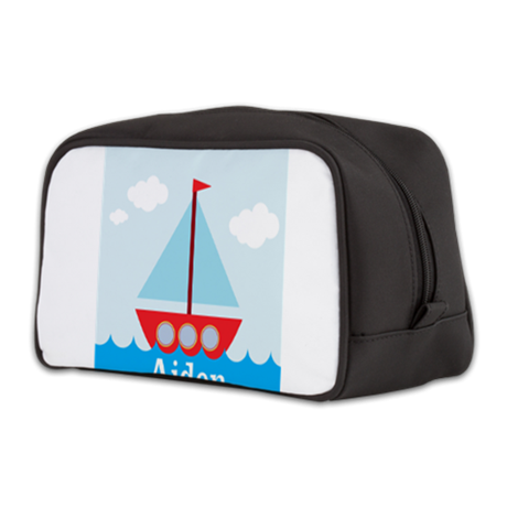Personalizable Sailboat in the Sea Toiletry Bag