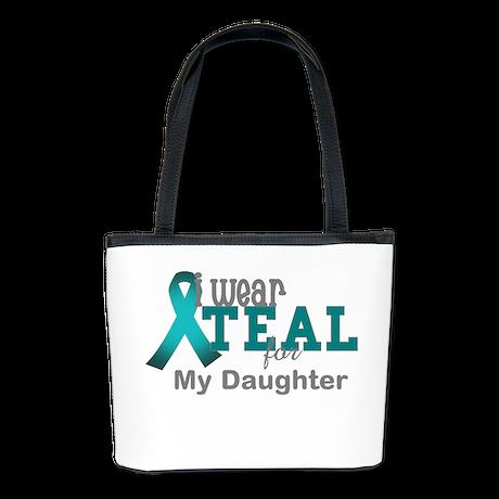 I wear Teal Bucket Bag