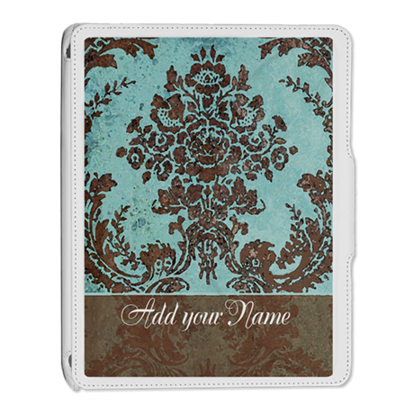 Add Name - Grunge Damask iPad 2 Cover