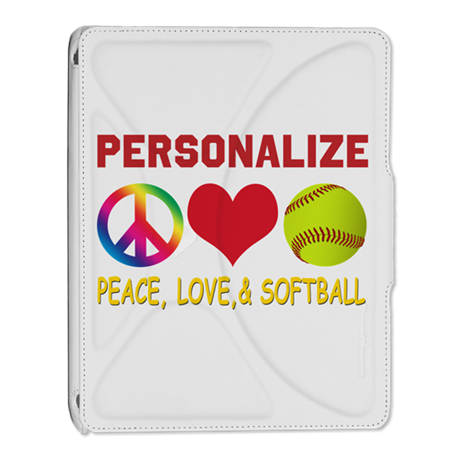 Personalize Girls Softball iPad 2 Cover