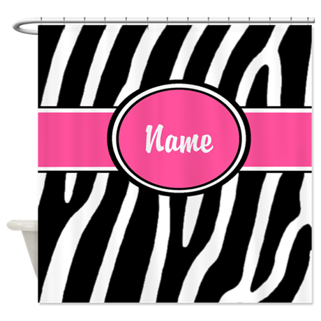 Gifts gt bathroom d 233 cor gt pink zebra print personalized shower curtain