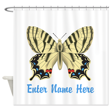 Personalized Butterfly Shower Curtain
