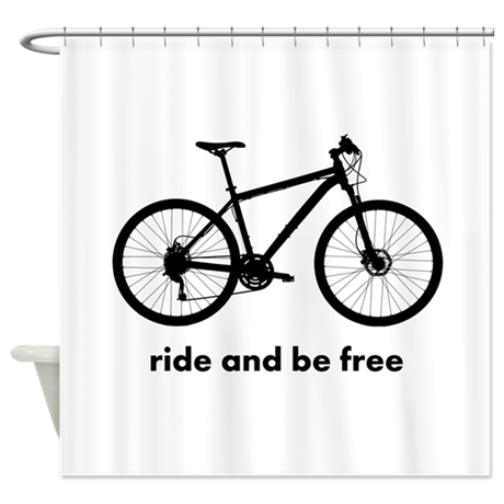 Custom Bicycle Shower Curtain