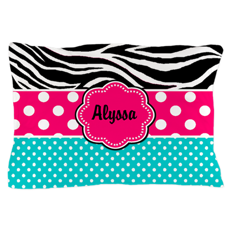 Custom Pink Zebra Pillow Case