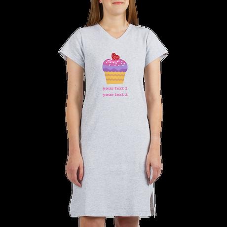 PERSONALIZE Fruit Cupcake Women's Nightshirt