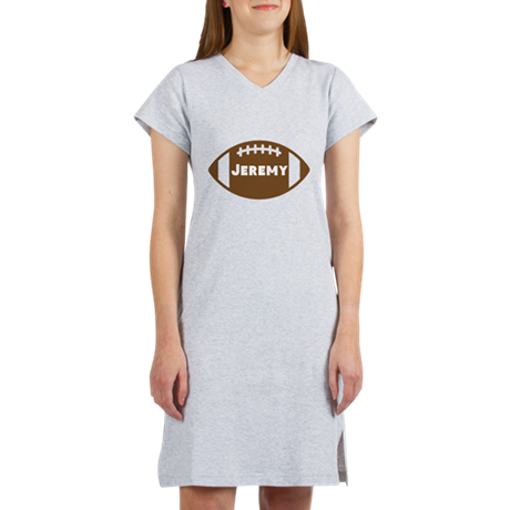 Personalized Football Women's Nightshirt