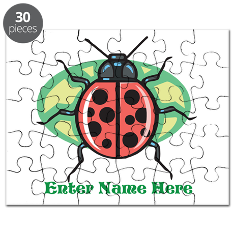 Personalized Ladybug Puzzle