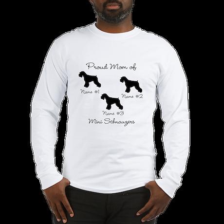 3 Schnauzers Long Sleeve T-Shirt
