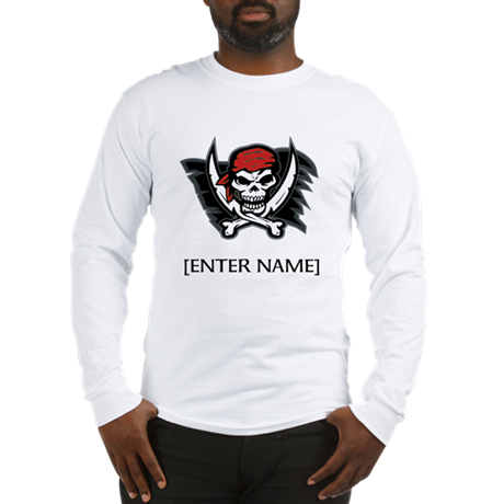Pirate Flag Personalize! Long Sleeve T-Shirt