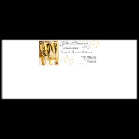 Golden Anniversary Champagne Invitation 4 x 9.25 F