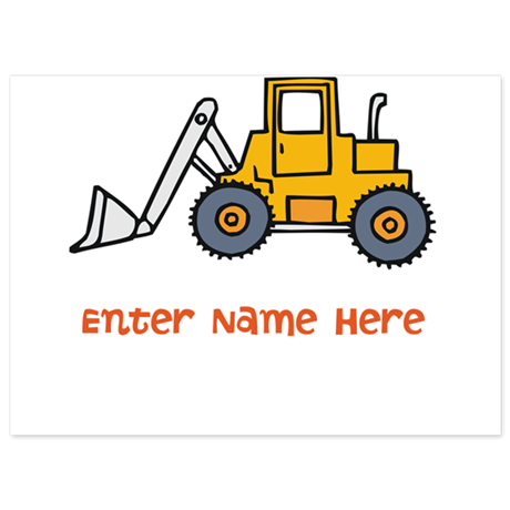 Personalized Loader 5.5 x 7.5 Flat Cards