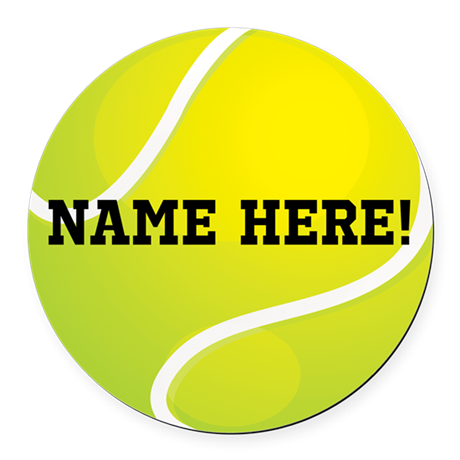 Personalized Tennis Ball Round Car Magnet