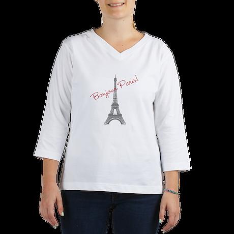 Eiffel Tower 3/4 Sleeve T-shirt