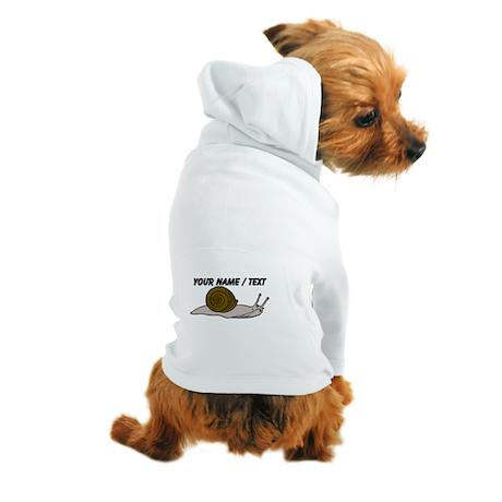 Custom Snail Dog Hoodie