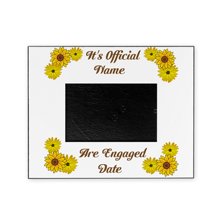 Its Official Were Egaged Yellow Picture Frame