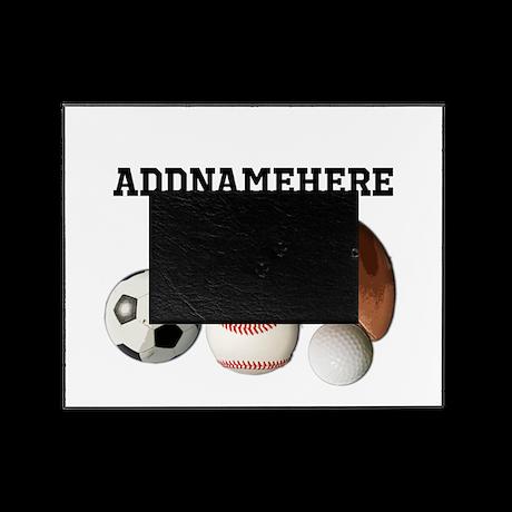 Sports Balls, Custom Name Picture Frame