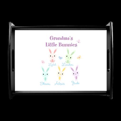 Grandmas little bunnies custom Coffee Tray