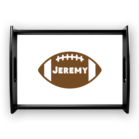 Personalized Football Large Serving Tray