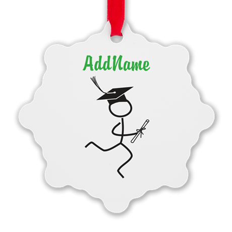 Customize Graduate Runner © Snowflake Ornament