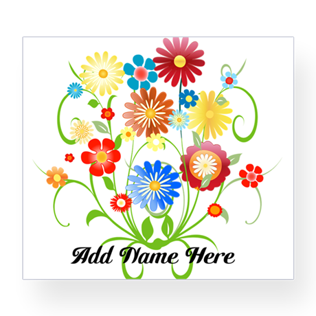 Personalized floral light Wine Label