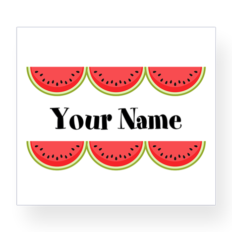 Watermelons Personalized Wine Label