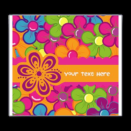 Flower Collage Wine Label