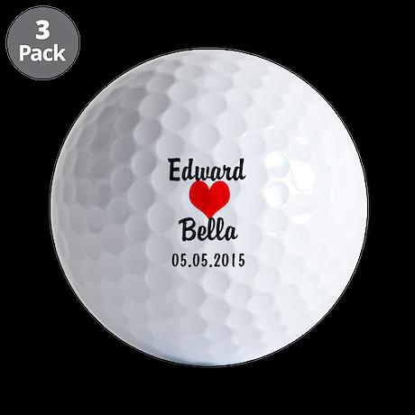 Personalized Wedding Golf Balls