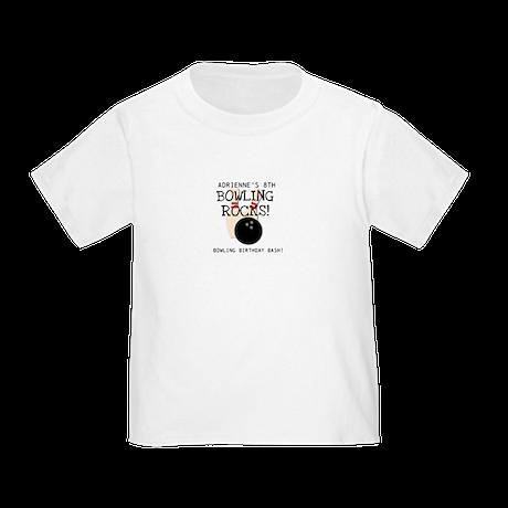 Customized Bowling Birthday Toddler T-Shirt