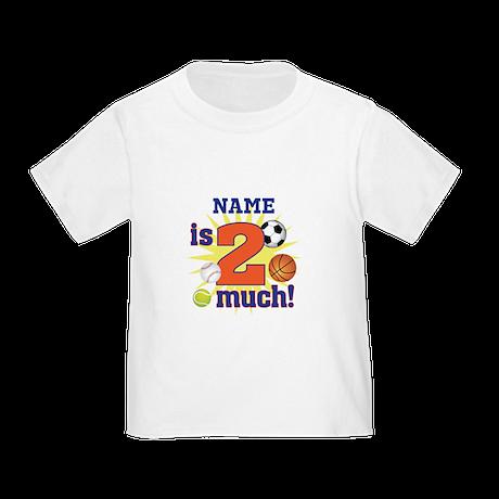 Custom Name 2 year old Toddler T-Shirt