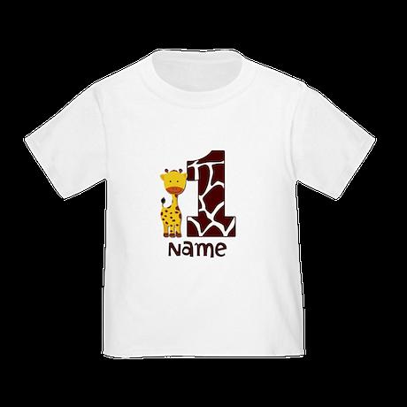 First Birthday Giraffe Toddler T-Shirt