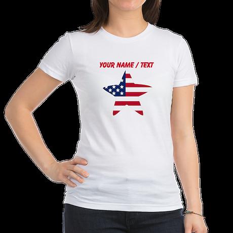 Custom American Flag Star T-Shirt