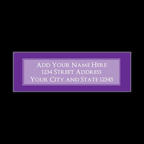 Purple Return Address Return Address Labels