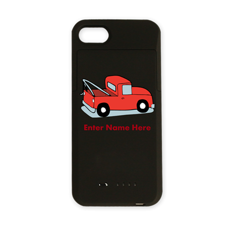 Personalized Tow Truck iPhone Charger Case