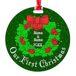 Custom 1st Christmas Ornament
