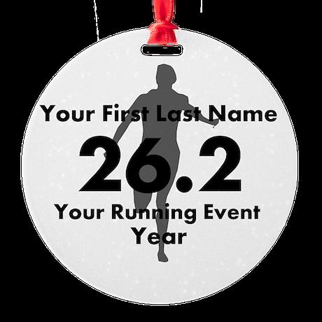 Customizable Running/Marathon Ornament