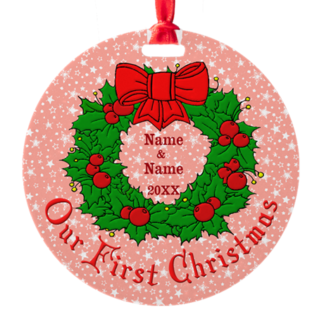 Our 1st Christmas Round Ornament