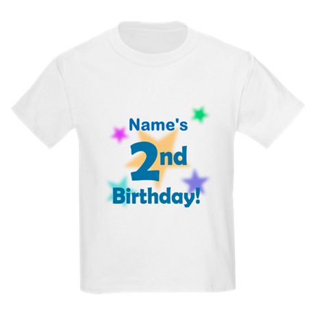 Custom 2nd Happy Birthday Kids Light T-Shirt